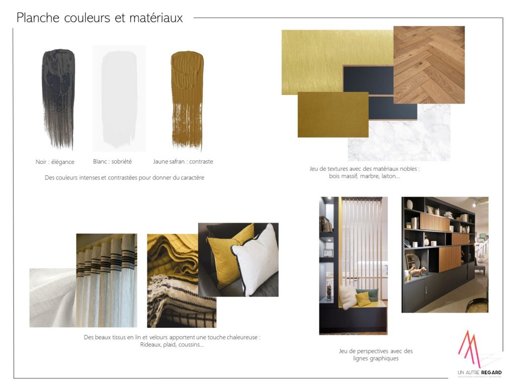 Planche couleurs et matériaux