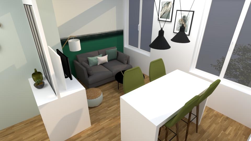 Salon studio vert